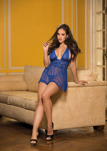 NET AND CHOPPER BAR LACE BABYDOLL