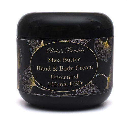 Olivia's Boudoir CBD Hand & Body Cream 4oz 100mg- Unscented