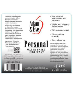 Adam & Eve Personal Water Based Lube - 8oz - Pink Cactus Trading Company