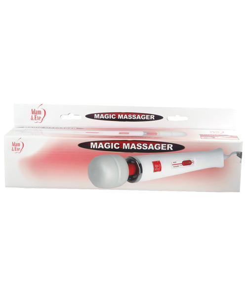 Adam & Eve Magic Massager - White/Red - Pink Cactus Trading Company