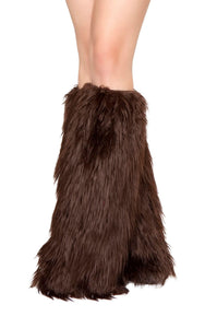 Roma Costume Women's Faux Fur Leg Warmer White One Size