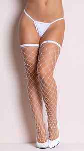 Big Diamond Net Thigh High's