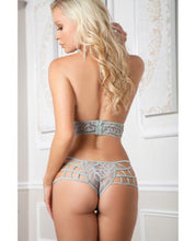 Load image into Gallery viewer, Cutout Boyshort Halter Teddy Smoke