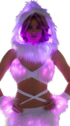 FAUX FUR LIGHT UP INFINITY HOOD