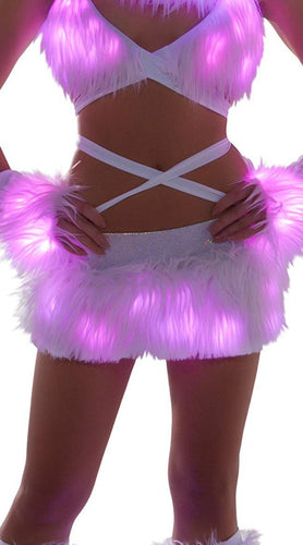 FAUX FUR LIGHT UP SKIRT