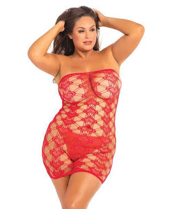 Rene Rofe Queen of Hearts Tube Dress / Plus Size