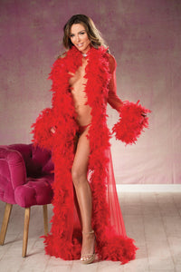 LONG SHEER NYLON ROBE