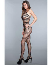 Load image into Gallery viewer, Vertical Stripe Crotchless Bodystocking