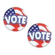 Vote: Patriotic USA American Vote Nipple Pasties by Pastease® o/s