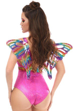 Load image into Gallery viewer, Rainbow Glitter Body Harness w/Wings