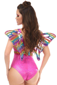 Rainbow Glitter Body Harness w/Wings - Pink Cactus Trading Company