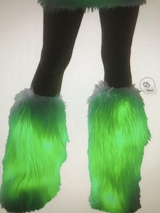 FAUX FUR LIGHT-UP LEGWARMERS - Pink Cactus Trading Company