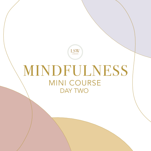 Mindfulness mini course - day two