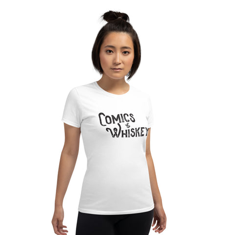 Comics & Whiskey Ladies Scoop Tee