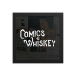 Comics & Whiskey Framed Print