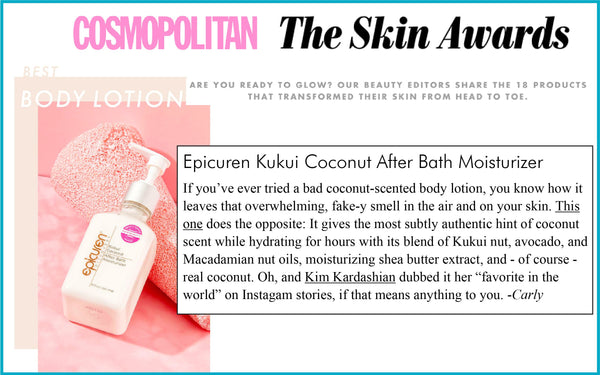 Cosmopolitan, The Skin Awards: Best Body Lotion