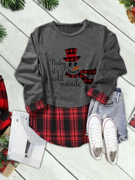 Baby Its Cold Outside Christmas Snowman Shirt