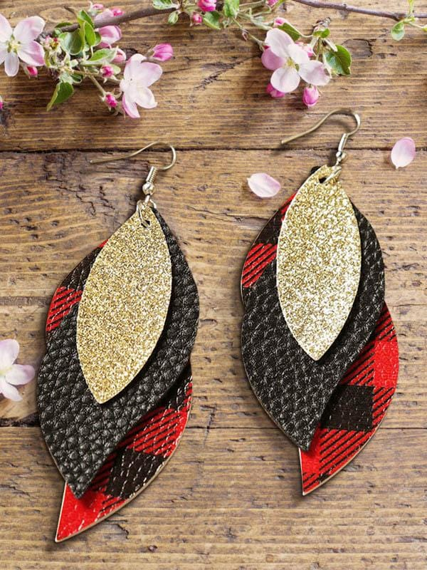 Christmas Leather Earrings