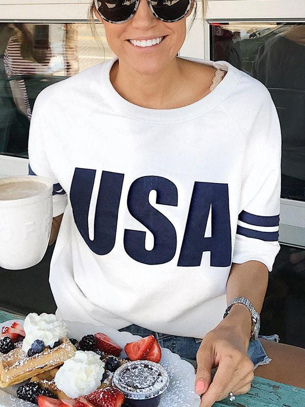 High-quality USA Splice Graphic T-shirts