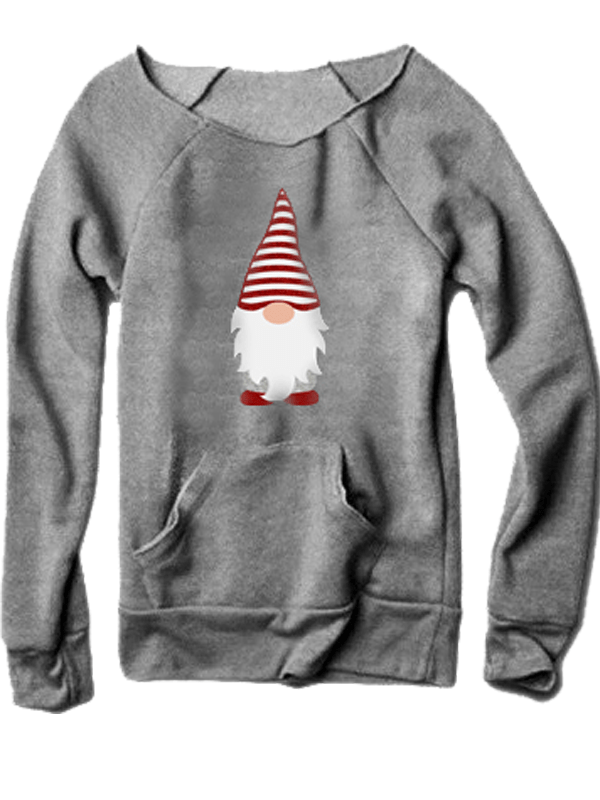 Gnome Christmas Sweater With Pocketed