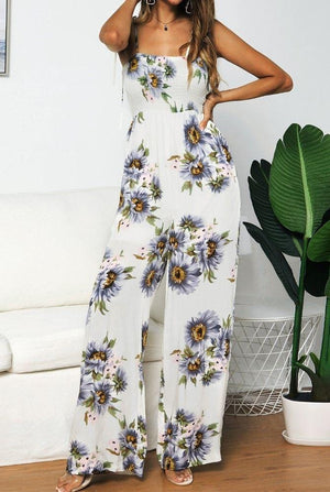 Sunflowers Printed Jumpsuits