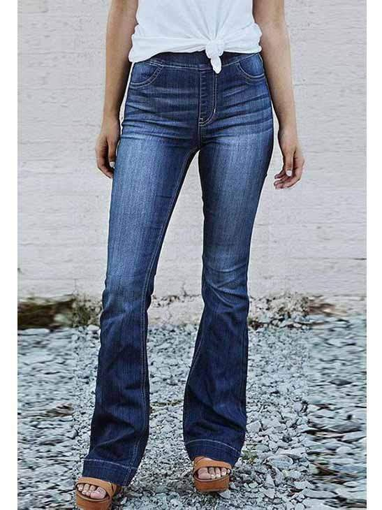 High Waist Slim Fit Flare Jeans