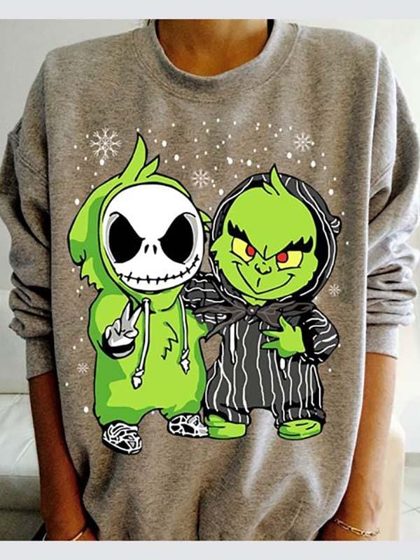 Jack Skellington Vs The Grinch Christmas Sweatshirt