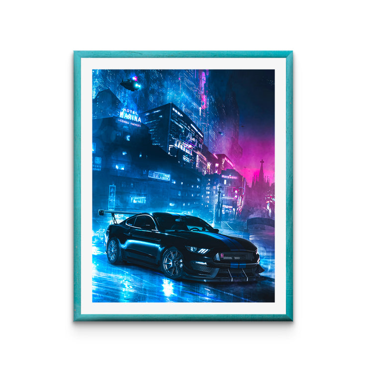 "Cyber Mustang Shelby GT350 Poster (16"" x 20"")"