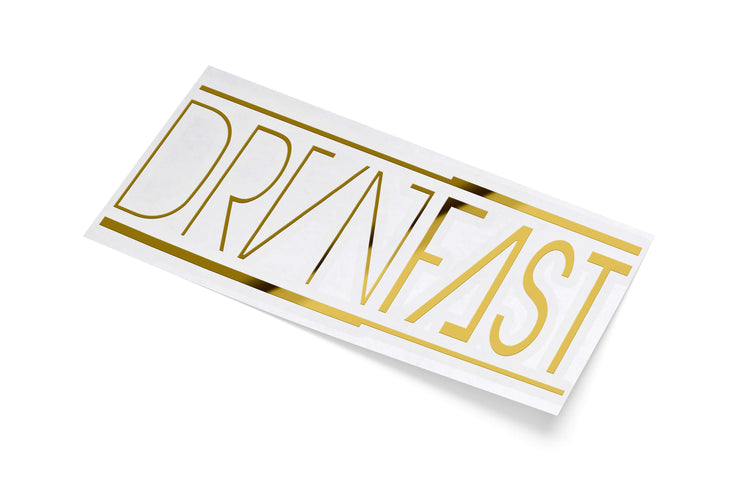 "GOLD CLASSIC DRVNFAST DECAL (7"" x 3"")"