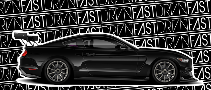 "Ford Mustang Shelby GT350 - Die Cut Sticker  (6"" x 2"")"