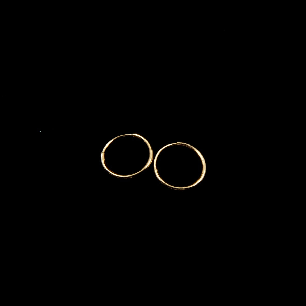 14k Gold Endless Hoops