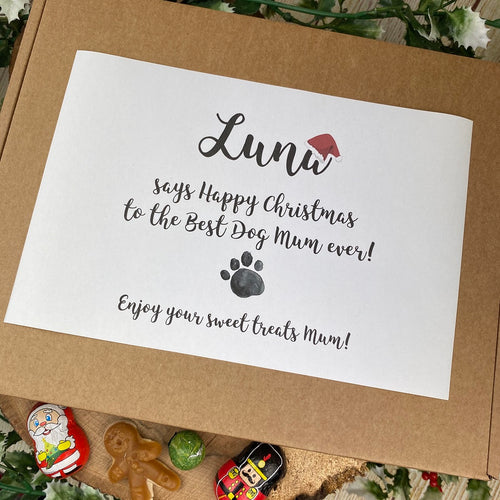 Personalised Christmas Dog Mum/Dad - Sweet Box-The Persnickety Co