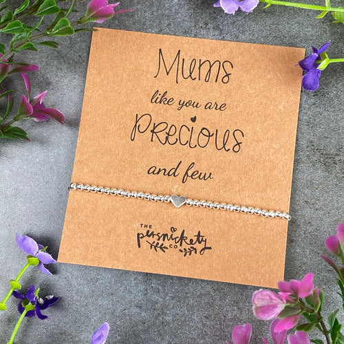 Mums Like You Are Precious And Few Beaded Bracelet-The Persnickety Co