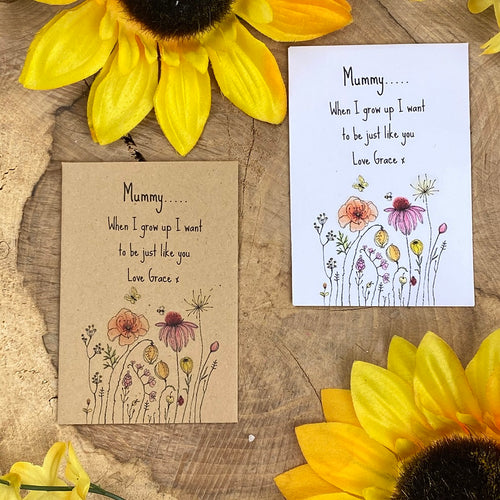 Mummy When I Grow Up Mini Kraft Envelope with Wildflower Seeds-The Persnickety Co