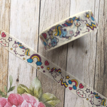 Load image into Gallery viewer, Happy Unicorn and Rainbows Washi Tape-5-The Persnickety Co