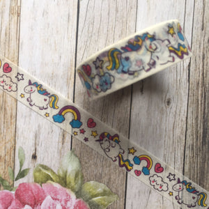 Happy Unicorn and Rainbows Washi Tape-5-The Persnickety Co