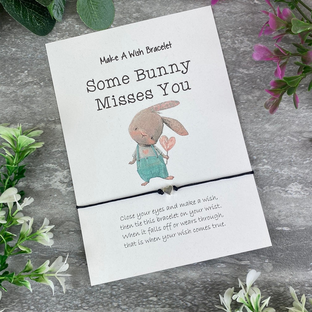 Some Bunny Misses You Make A Wish Bracelet-The Persnickety Co