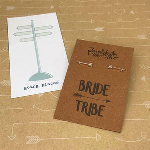 Bride Tribe Arrow Earrings-2-The Persnickety Co