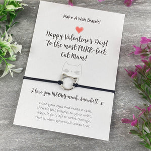 Happy Valentines Purr-Fect Cat Mum - Wish Bracelet-6-The Persnickety Co