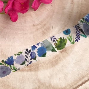 Blue Floral Washi Tape-7-The Persnickety Co