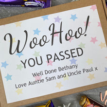 Load image into Gallery viewer, Woo Hoo! You Passed - Personalised Chocolate Box-3-The Persnickety Co