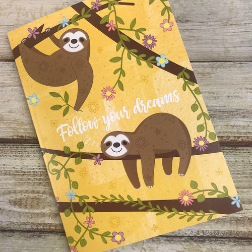 Sloth A6 Notebook-The Persnickety Co