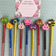 Load image into Gallery viewer, Happy Day Animal Rubber Topped Pencil-3-The Persnickety Co