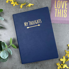 Load image into Gallery viewer, My Thoughts Journal Navy Blue
