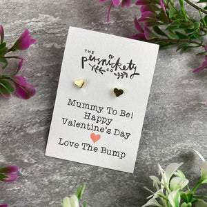 Mummy To Be Happy Valentine's Day Earrings-7-The Persnickety Co