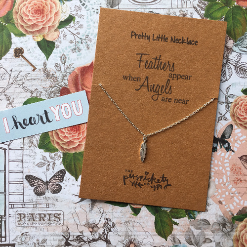 Feathers Appear When Angels Are Near Necklace-The Persnickety Co