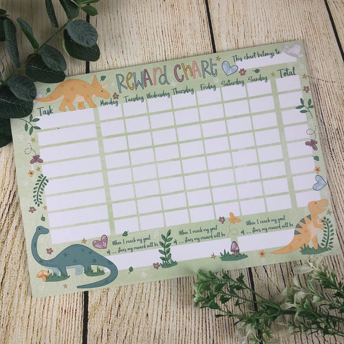 Dinosaur Reward Chart-The Persnickety Co