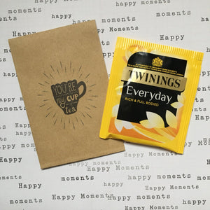 You're My Cup Of Tea Mini Kraft Envelope with Tea Bag-3-The Persnickety Co
