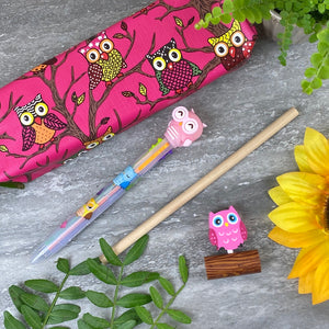 Owl Stationery Set - Pink-7-The Persnickety Co