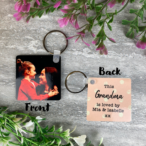 This Grandma Is Loved By Photo Keyring-The Persnickety Co